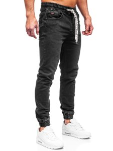 Чорні чоловічі джинси джоггери Bolf KA2131
