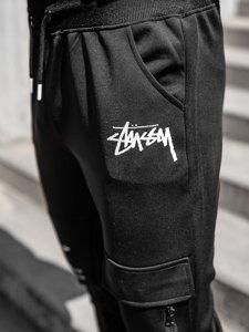 Чорні чоловічі спортивні штани карго Bolf K10286