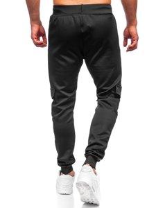 Чорні чоловічі спортивні штани Bolf K10276